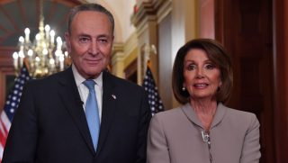 Speaker of the House Nancy Pelosi and Senate Minority Leader Charles Schumer.