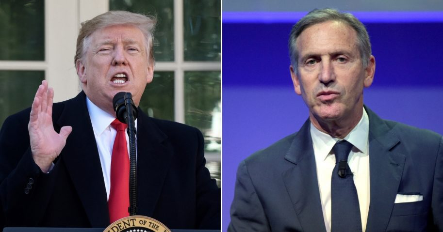 President Donald Trump/ Former Starbucks CEO Howard Schultz