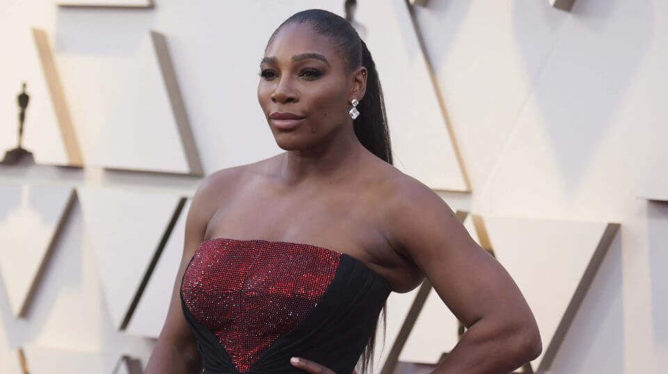 Serena Williams arrives at the Oscars on Sunday at the Dolby Theatre in Los Angeles.