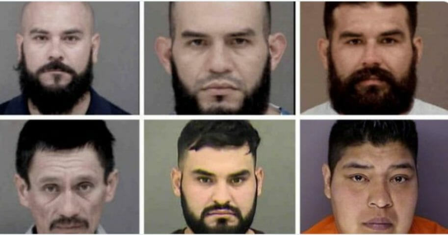 6 illegal immigrants arrested, mugshots.