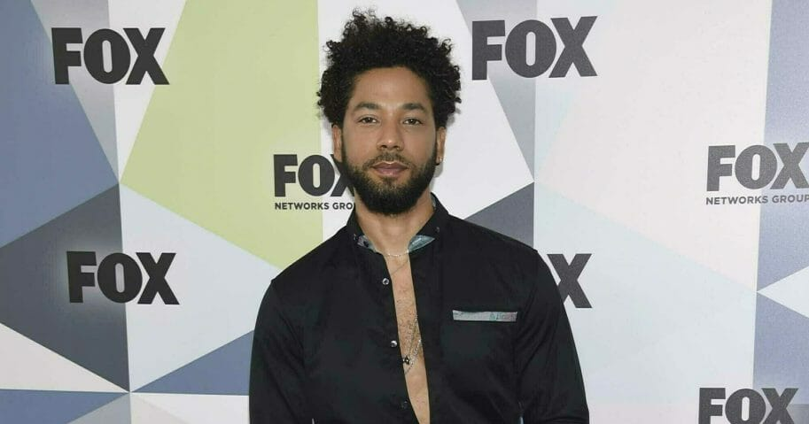 "In this May 14, 2018, file photo, Jussie Smollett, a cast member in the TV series ""Empire,"" attends the Fox Networks Group 2018 programming presentation afterparty in New York."