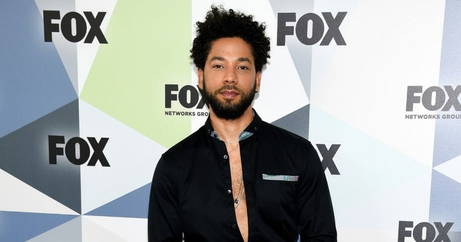 Actor and singer Jussie Smollett attends the Fox Networks Group 2018 programming presentation after party at Wollman Rink in Central Park.