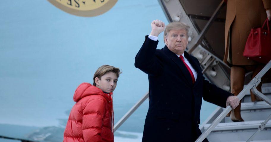 Barron and Donald Trump