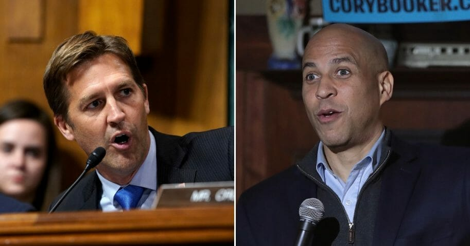 Sen. Ben Sasse, left, and Sen. Cory Booker, right.