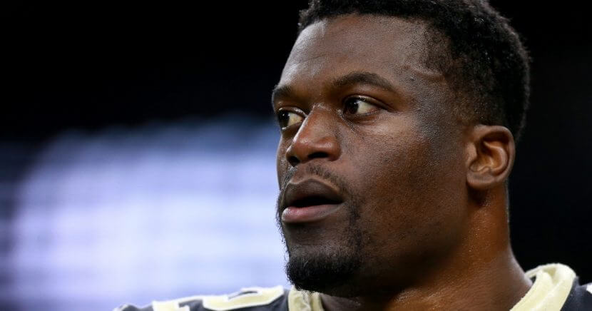 Benjamin Watson #82 of the New Orleans Saints stands on the field during the NFC Divisional Playoff against the Philadelphia Eagles at the Mercedes Benz Superdome on Jan. 13, 2019 in New Orleans, Louisiana.