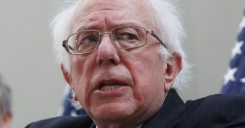 Sen. Bernie Sanders of Vermont speaks during a news conference Feb. 13 on Capitol Hill.