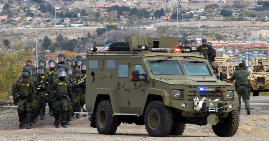 Border patrol drill