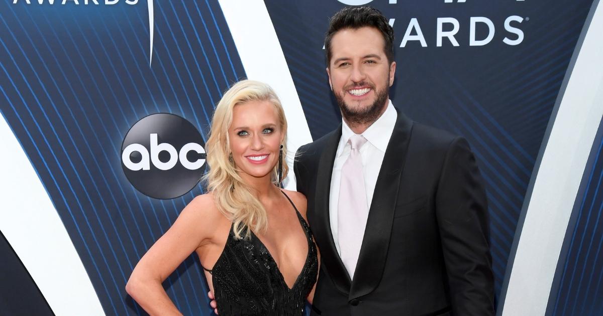 Caroline Boyer and singer-songwriter Luke Bryan attend the 52nd annual CMA Awards at the Bridgestone Arena on Nov. 14, 2018, in Nashville, Tennessee.