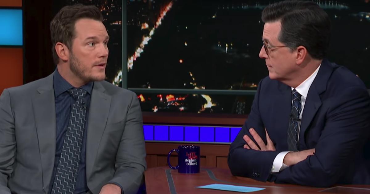 Chris Pratt Shares Faith on Colbert