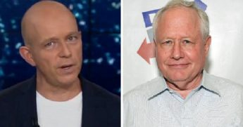 Fox News' Steve Hilton, left; and commentator William Kristol, right.
