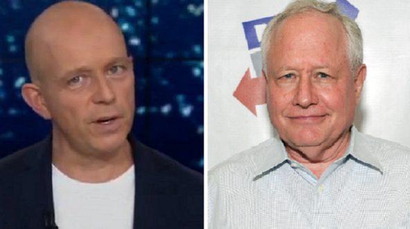 Fox News' Steve Hilton, left; and commentator William Kristol, right.