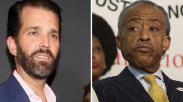 Donald Trump Jr.,. left; and Al Sharpton, right.