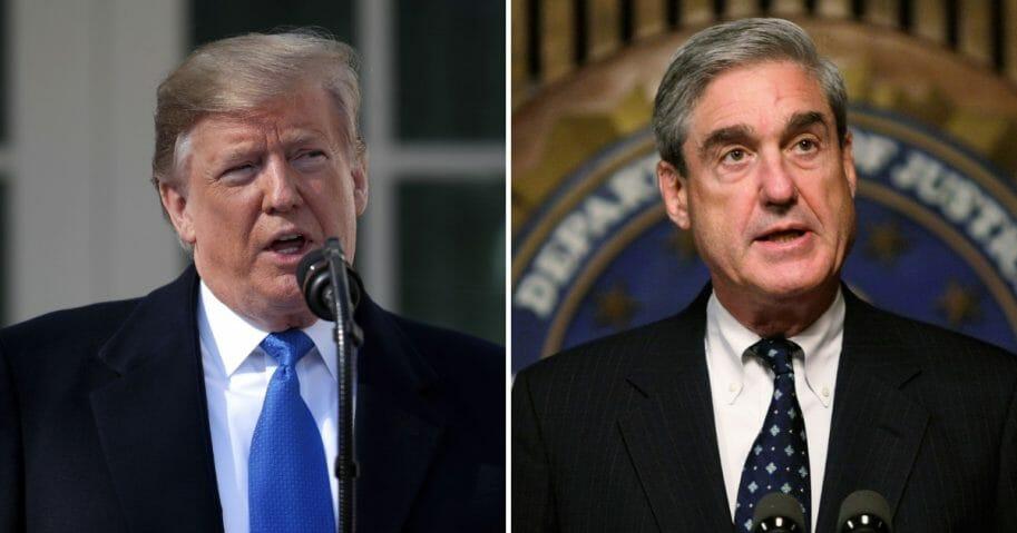 Donald Trump, left, and Robert Mueller, right.