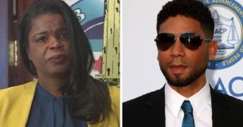 "Cook County State's Attorney Kim Foxx, left; ""Empire"" actor Jussie Smollette, right."