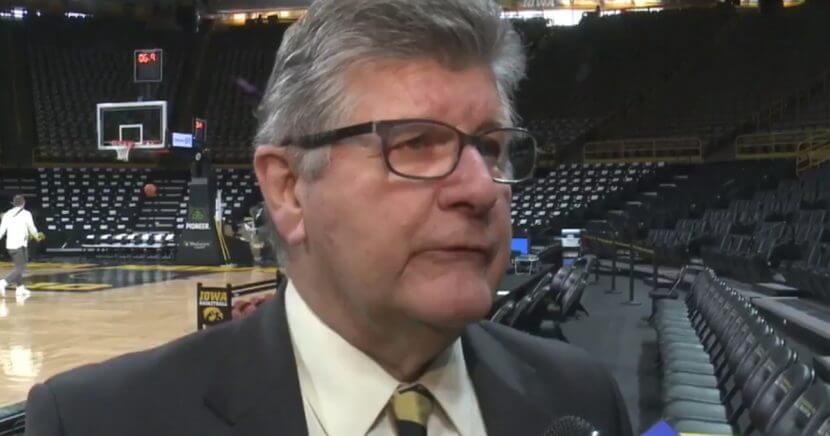 Iowa Hawkeyes announcer Gary Dolphin.