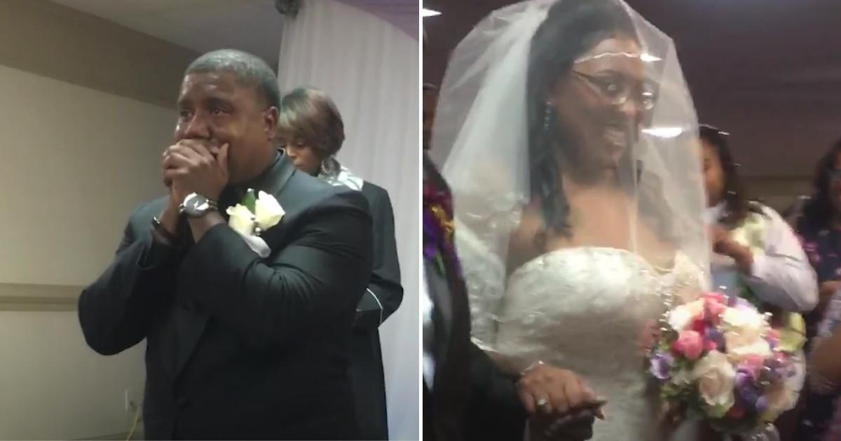 Groom Cries When He Sees Bride