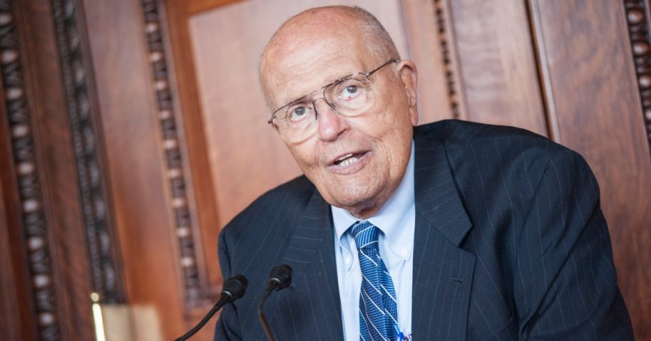 John Dingell speaks during the 2013 Library Of Congress Gershwin Prize kick-off luncheon at the Thomas Jefferson Building on May 21, 2013 ,in Washington, D.C.