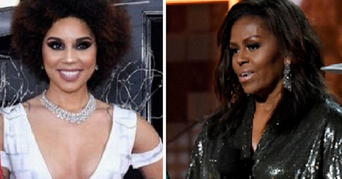 Singer's Pro-Trump Dress Was the Perfect Way to 'Welcome' Michelle to the Grammys