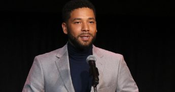 Television actor Jussie Smollett in a December file photo.