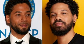 TV actor Jussie Smollett; left; and celebrity chef Jake Smollett, right.