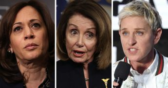 Democratic California Sen. Kamala Harris, left, House Speaker Nancy Pelosi, center, and, talk show host Ellen DeGeneres, right, seemed willing to cosign Jussie Smollett's story before a single arrest had been made.