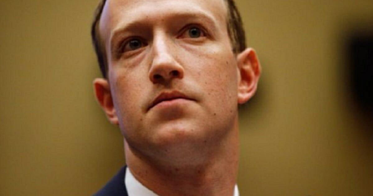 Mark Zuckerberg looking grim.