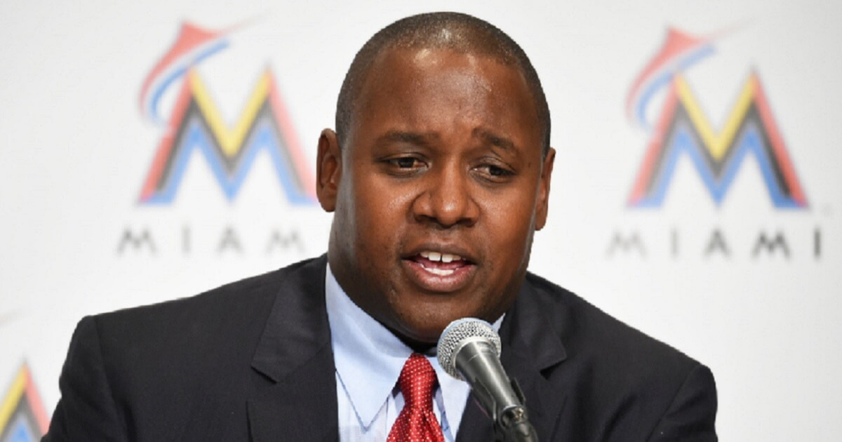 Michael Hill, Marlins president for baseball operations.