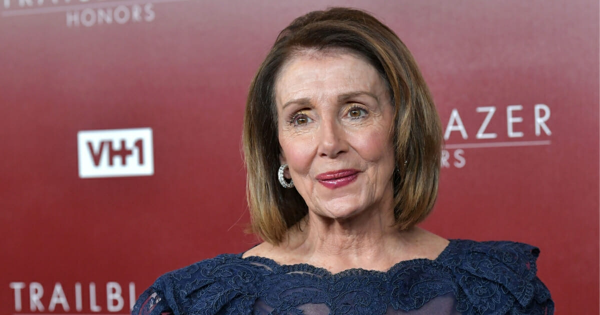 Nancy Pelosi attends VH1 Trailblazer Honors at The Wilshire Ebell Theatre on Feb. 20, 2019, in Los Angeles, California.