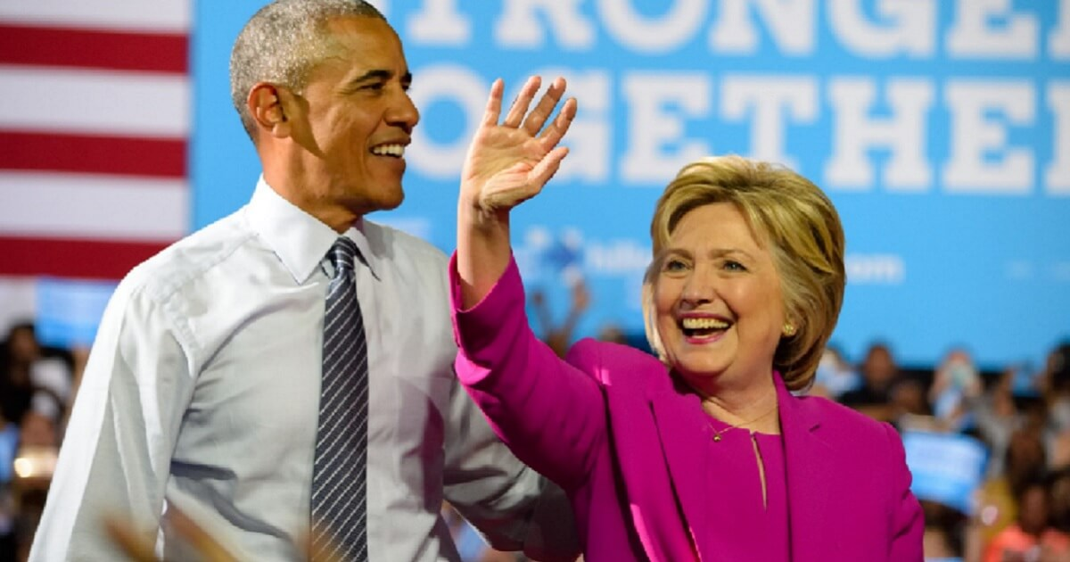 Former President Barack Obama with Hillary Clinton in July 2016.