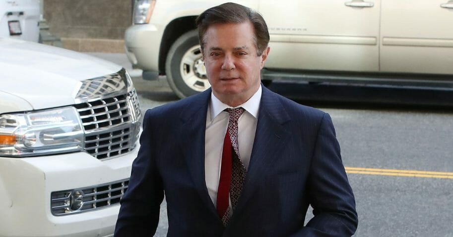 Former Trump campaign manager Paul Manafort arrives at the E. Barrett Prettyman U.S. Courthouse for a hearing on June 15, 2018, in Washington, D.C.