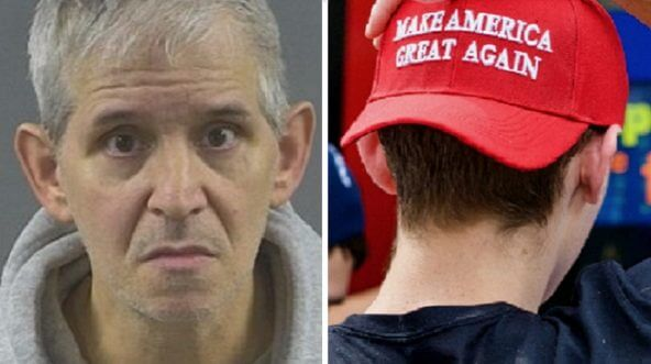 James Phillips, left; Make America Great Again hat, right.