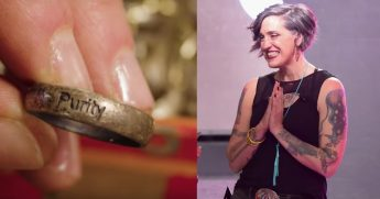 Nadia Bolz-Weber and a purity ring.