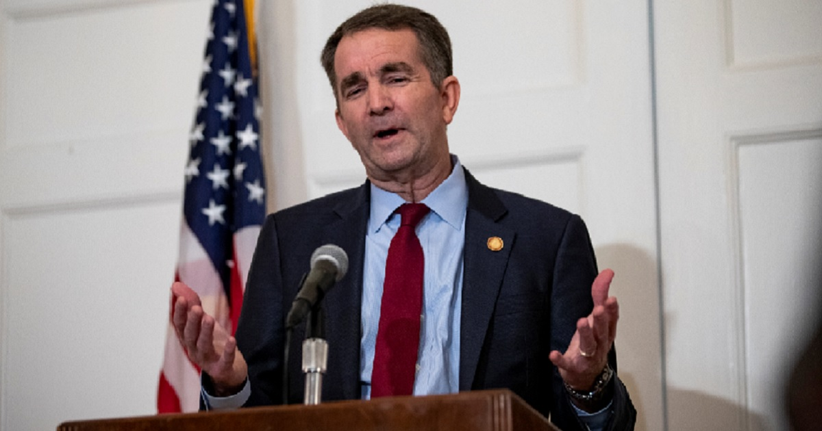 Virginia Gov. Ralph Northam speaks at a news conference on Saturday.
