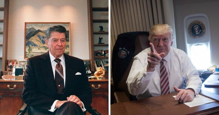 Ronald Reagan and Donald Trump