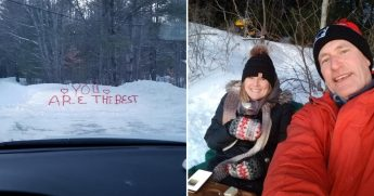 Snow Bank Love Letters