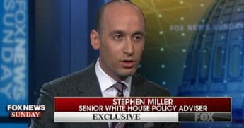 "White House adviser Stephen Miller on ""Fox News Sunday."""