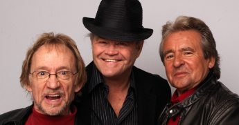 Peter Tork, Davey Jones and Micky Dolenz of The Monkees pose during portrait session to announce the bands 45th anniversary tour held at The Groucho Club on February 21, 2011, in London, England.