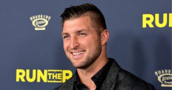 Tim Tebow attends the premiere of Roadside Attractions' 'Run The Race' at the Egyptian Theatre on Feb. 11, 2019, in Hollywood, California.