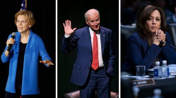 Warren v Biden v Harris