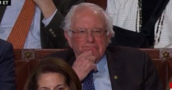 Sen. Bernie Sanders at the State of the Union.