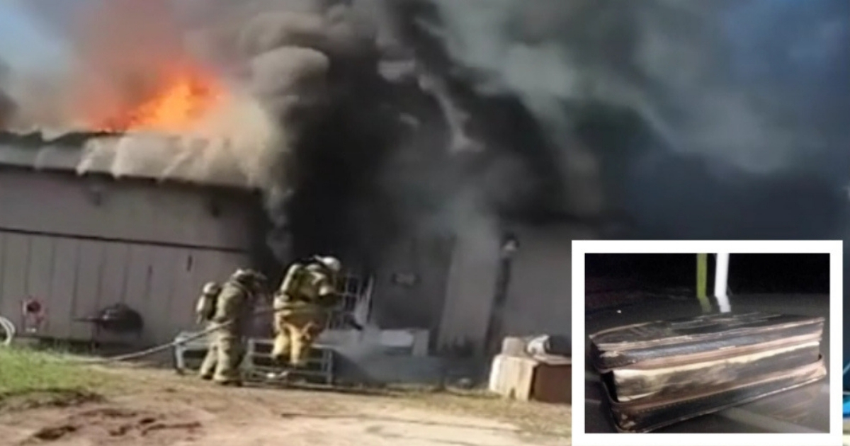 Firefighter Moved to Tears After Man's Bible Survives ...