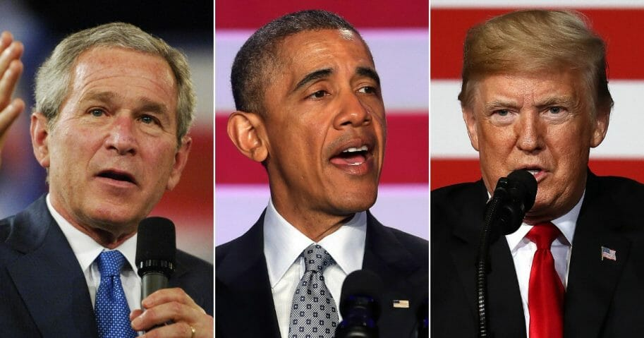 President Bush; President Obama; President Trump.