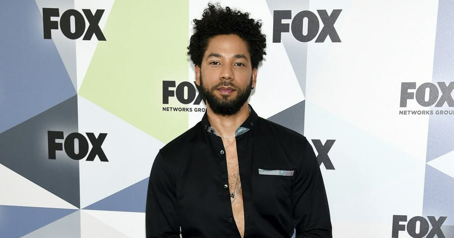 In this Monday, May 14, 2018, file photo, actor and singer Jussie Smollett attends the Fox Networks Group 2018 programming presentation after party at Wollman Rink in Central Park in New York.