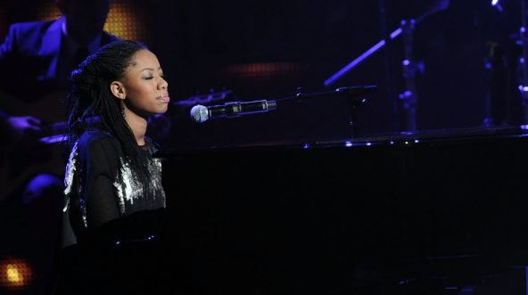 Recording Artist Dominique Jones of the family group 'forever JONES' performs at the 26th Annual Stellar Gospel Music Awards at The Grand Ole Opry on Jan. 15, 2011, in Nashville, Tennessee.