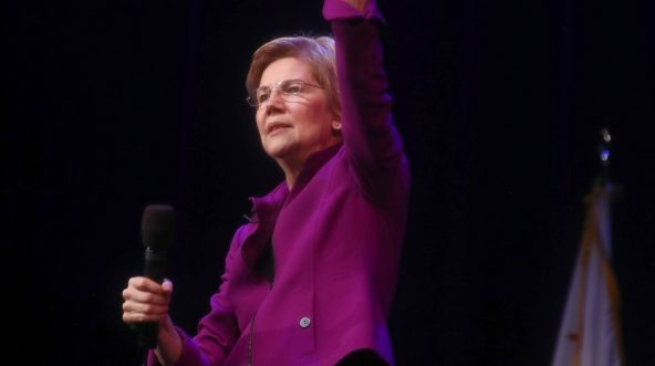Sen. and Democratic presidential candidate Elizabeth Warren speaks at an organizing event on Feb. 18, 2019 in Glendale, California.