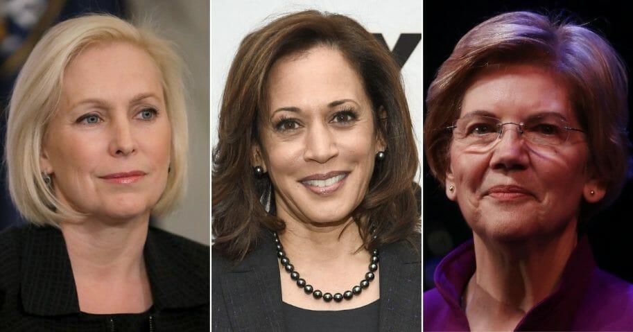 Sen. Kirsten Gillibrand, Sen. Kamala Harris and Sen. Elizabeth Warren.