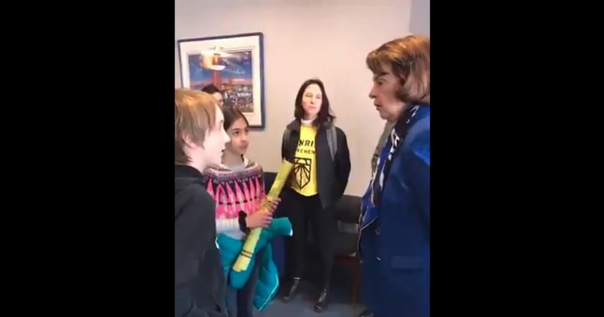 kids confronting Feinstein