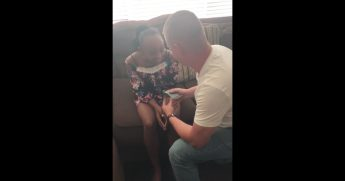 Man proposes to future daughter.