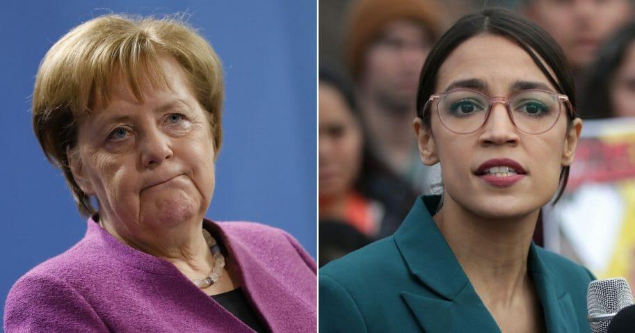 German Chancellor Angela Merkel/ Rep. Alexandria Ocasio-Cortez