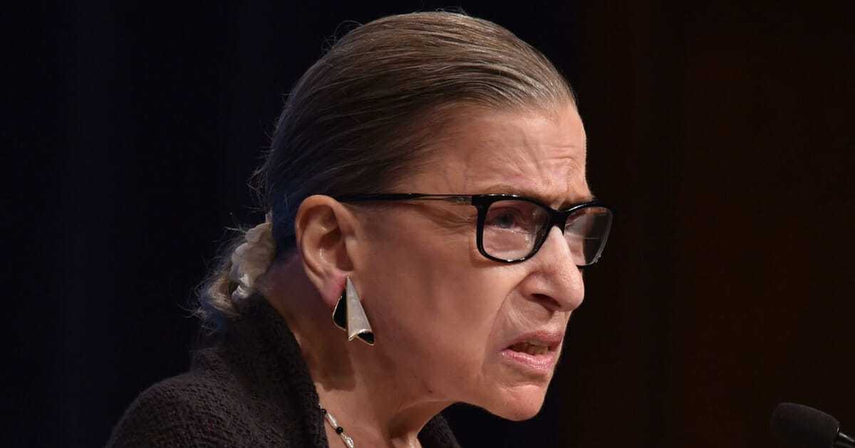 Supreme Court Justice Ruth Bader Ginsburg speaks to first year Georgetown University law students in Washington, D.C.
